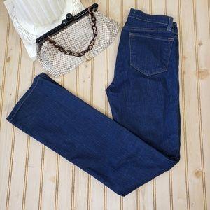 J Brand 26x31 Straight Leg Jeans Dark Wash Low EUC